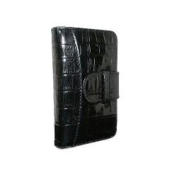 Ledertasche Wallet für Apple iPhone 5/5S Krokodillederprägung