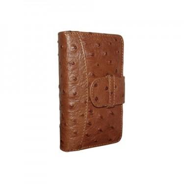 Piel Frama Ledertasche Wallet für Apple iPhone 5/5S Straußenlederprägung