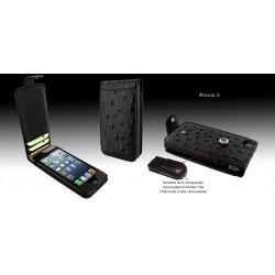 Ledertasche Snap für Apple iPhone 5/5S Straußenlederprägung