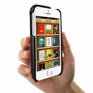 Piel Frama Ledertasche FramaGrip für Apple iPhone 5/5S Eidechsenprägung